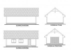 Budynki garażowe.