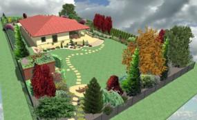 Projekt ogrodu z wizualizacją 3D -od 1 PLN/m2.