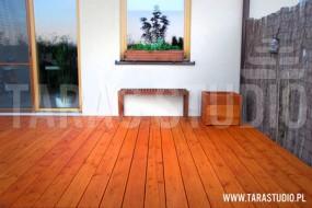 Tarasy z drewna egzotycznego Jabłonka