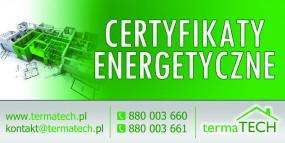 Certyfikat energetyczny/ świadectwo energetyczne