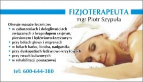 Gabinet masażu Piotr Szypuła