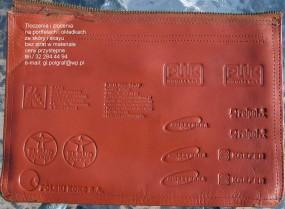 tłoczenie logo na portfelach tel. 32 284 44 94