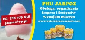 wata cukrowa popcorn obsługa wynajem maszyn