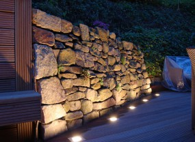 Oświetlenie ogrodu, obrazy świetlne