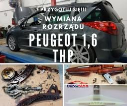Wymiana rozrządu Peugeot 1,6 thp